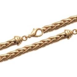 Bracelet en plaqué or maille palmier 6 mm montée à la main obrillant-bijoux