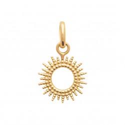 Pendentif en plaqué or anneau soleil irisé stylisé obrillant-bijoux