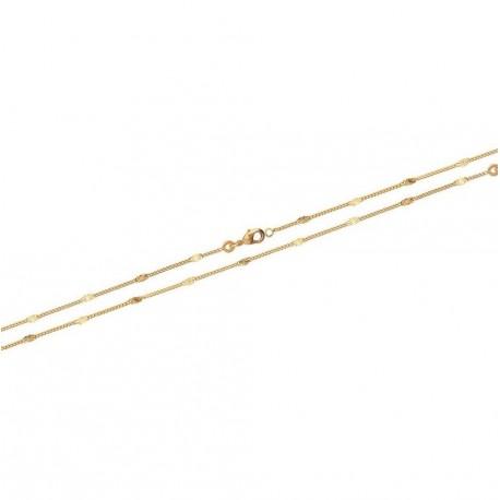Collier en plaqué or fine maille boules obrillant-bijoux