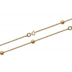 Bracelet en plaqué or maille boules obrillant-bijoux