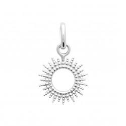 Pendentif en argent rhodié petit soleil stylisé obrillant-bijoux