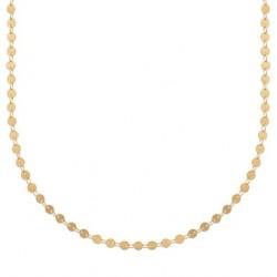 Collier en plaqué or maille petits cercles obrillant-bijoux