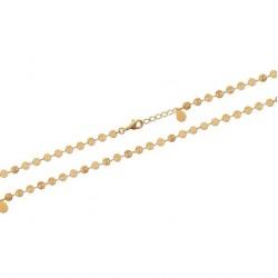 Bracelet en plaqué or maille petits cercles obrillant-bijoux