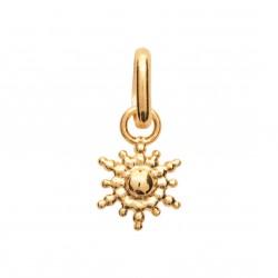 Pendentif en plaqué or petit soleil irisé stylisé obrillant-bijoux
