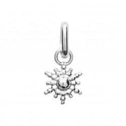 Pendentif en argent rhodié soleil irisé stylisé Obrillant-Bijoux