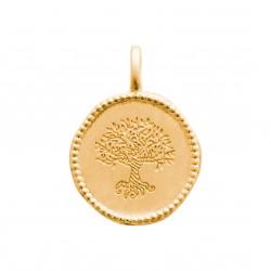 Pendentif en plaqué or médaille arbre de vie Obrillant-Bijoux