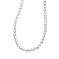 Collier en plaqué or perles imitation Majorque en 6 mm obrillant-bijoux