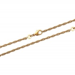 Collier en plaqué or maille corde 1,75 mm obrillant-bijoux