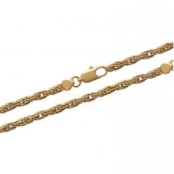 Bracelet en plaqué or maille corde 3 mm obrillant-bijoux