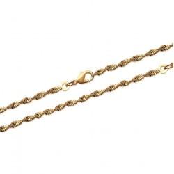 Collier en plaqué or maille torsade obrillant-bijoux