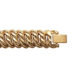 Bracelet en plaqué or maille américaine 23 cm obrillant-bijoux