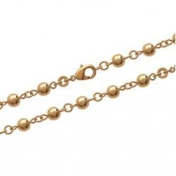Bracelet en plaqué or boules obrillant-bijoux