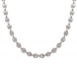 Chaine collier en acier maille marine 10 mm obrillant-bijoux