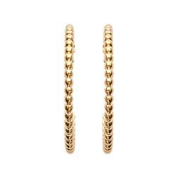 Créoles plaqué or anneau monture perlées 25 mm obrillant-bijoux
