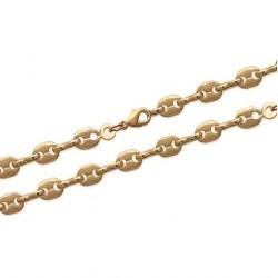 Bracelet en plaqué or maillons grains de café agrafées 4 mm obrillant-bijoux