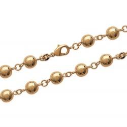 Bracelet en plaqué or boules19 cm obrillant-bijoux