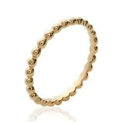Alliance plaqué or anneau boules billes Obrillant-bijoux