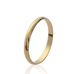 Alliance en plaqué or anneau fin 2 mm mixte Obrillant-bijoux