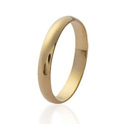 Alliance en plaqué or anneau fin 3 mm mixte Obrillant-bijoux