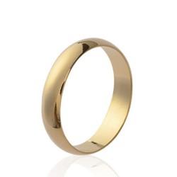 Alliance en plaqué or anneau 4 mm mixte Obrillant-bijoux