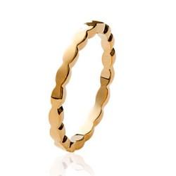 Alliance en plaqué or anneau fil ciselé Obrillant-bijoux