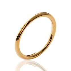 Alliance en plaqué or anneau fil rond 2 mm Obrillant-bijoux