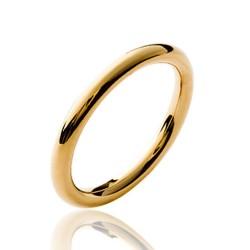 Alliance en plaqué or anneau fil rond 2,5 mm Obrillant-bijoux
