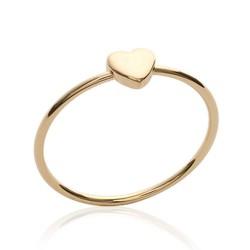 Bague plaqué or petit coeur Obrillant-bijoux