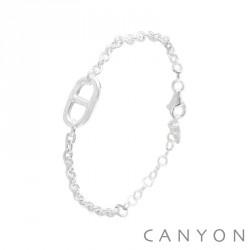 Bracelet CANYON en argent maillon marine obrillant-bijoux