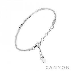 Bracelet CANYON en argent maille ronde diamantée obrillant-bijoux