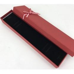 Ecrin pour bracelet cartonné rouge avec petit noeud rouge et blanc pas cher obrillant bijoux