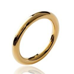 Alliance en plaqué or anneau fil rond 3 mm Obrillant-bijoux
