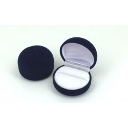 Ecrin pour bague forme boule en feutrine noire fond blanc pas cher obrillant bijoux