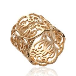 Bague en plaqué or anneau arabesques dentelle promotion Obrillant-bijoux