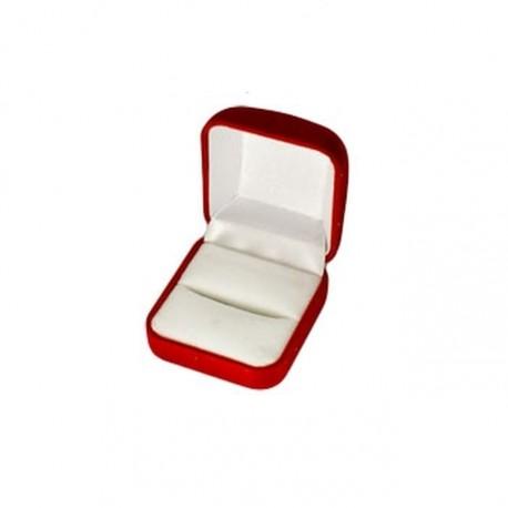 Ecrin pour bague forme carré en feutrine rouge fond blanc pas cher obrillant bijoux