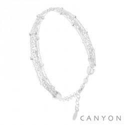 Bracelet Canyon en argent 5 rangs petites boules pas cher obrillant-bijoux