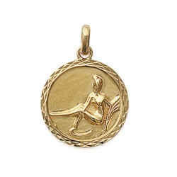 Pendentif plaqué or médaille ciselée vierge Obrillant-Bijoux