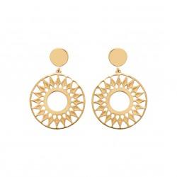 Boucles d'oreilles en plaqué or soleil ajouré obrillant-bijoux