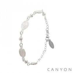 Bracelet Canyon en argent constitué de 4 madones pas cher obrillant-bijoux