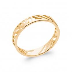 Bague en plaqué or monture ajourée style mixte Obrillant-bijoux