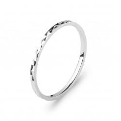 Alliance en argent rhodié anneau motifs en reliefs mixte 1 mm Obrillant-bijoux