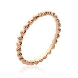 Alliance plaqué or rose anneau avec petites boules billes Obrillant-bijoux