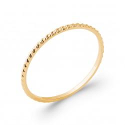 Alliance très fine en plaqué or anneau ciselé 1 mm Obrillant-bijoux