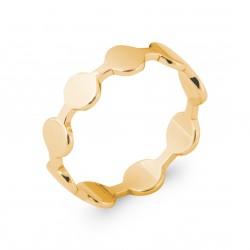 Bague en plaqué or anneau pastilles ronde Obrillant-bijoux