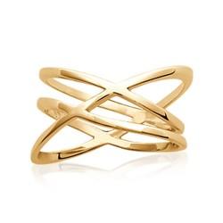 Bague en plaqué or anneaux entrelacés Obrillant-bijoux