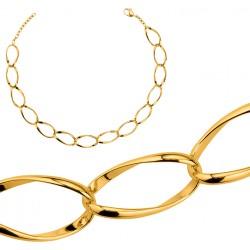 Collier en plaqué or larges maillons ovale promotion obrillant-bijoux