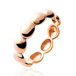 Bague en plaqué or rose anneau pastilles Obrillant-bijoux