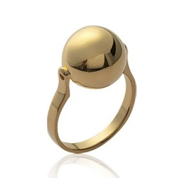 Bague en plaqué or grosse boule pas chère Obrillant-Bijoux