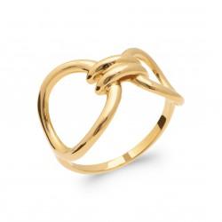 Bague en plaqué or anneaux avec liens Obrillant-bijoux