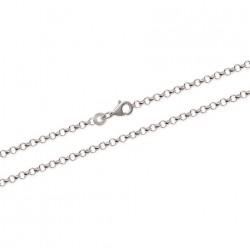 Chaine en argent maille jaseron allégée 2 mm pas chère obrillant-bijoux